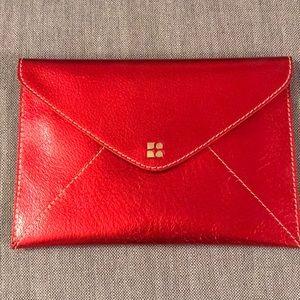 Handbags - Kate spade metallic red envelope clutch